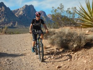 Bicycling through the Mojave Desert Outside Las Vegas